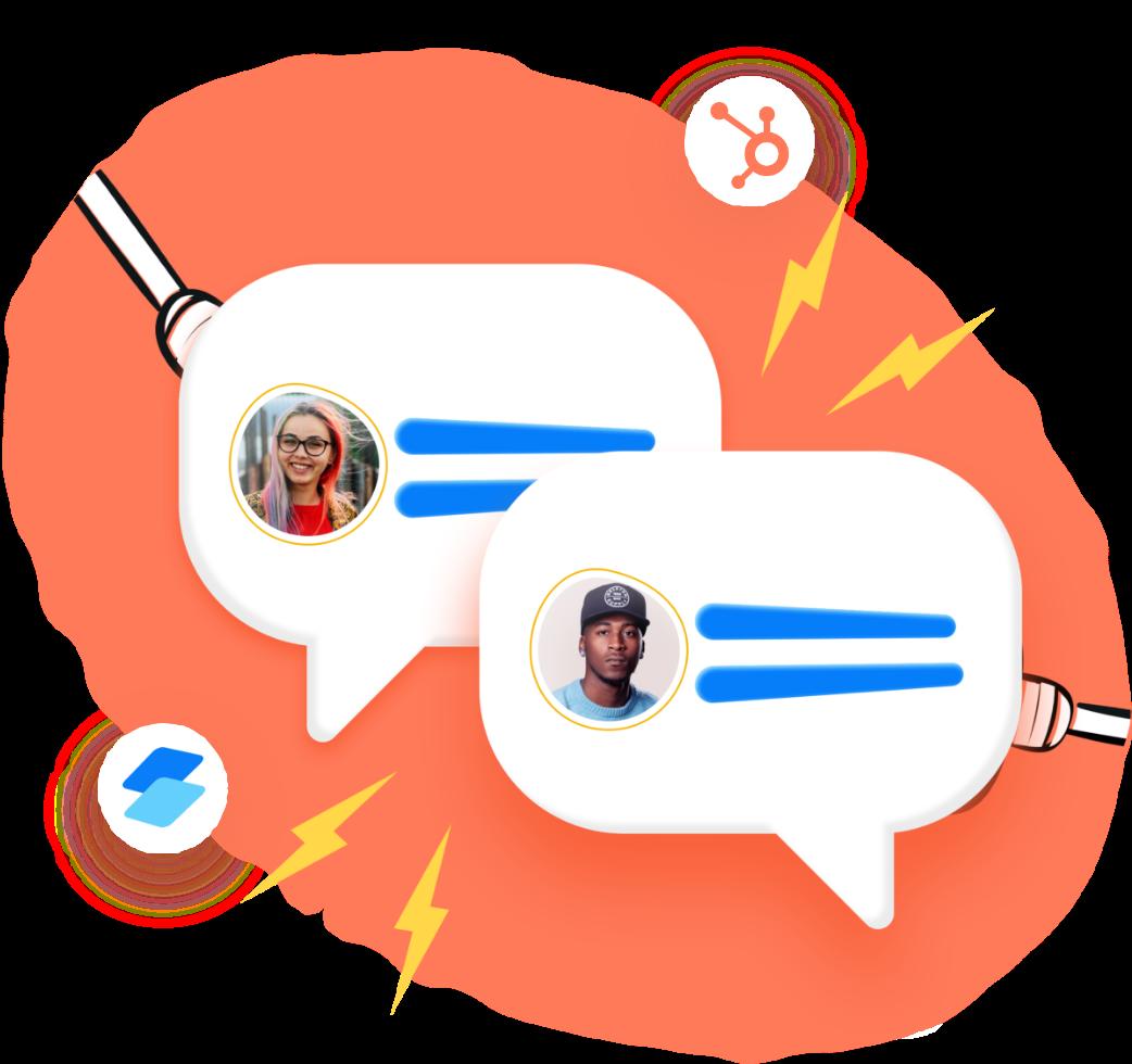 Sending data to Hubspot from your conversational marketing platform